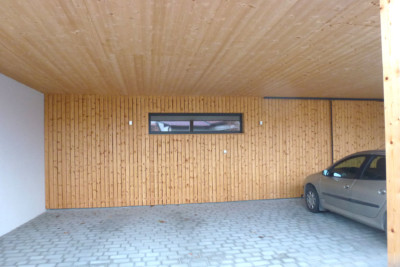 Massivholz-Stur-Garage